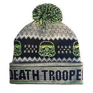 Star Wars Death Trooper Knit Pom Pom Pom Beanie